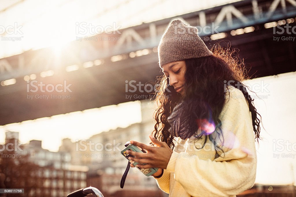 I love shopping from my phone stock photo