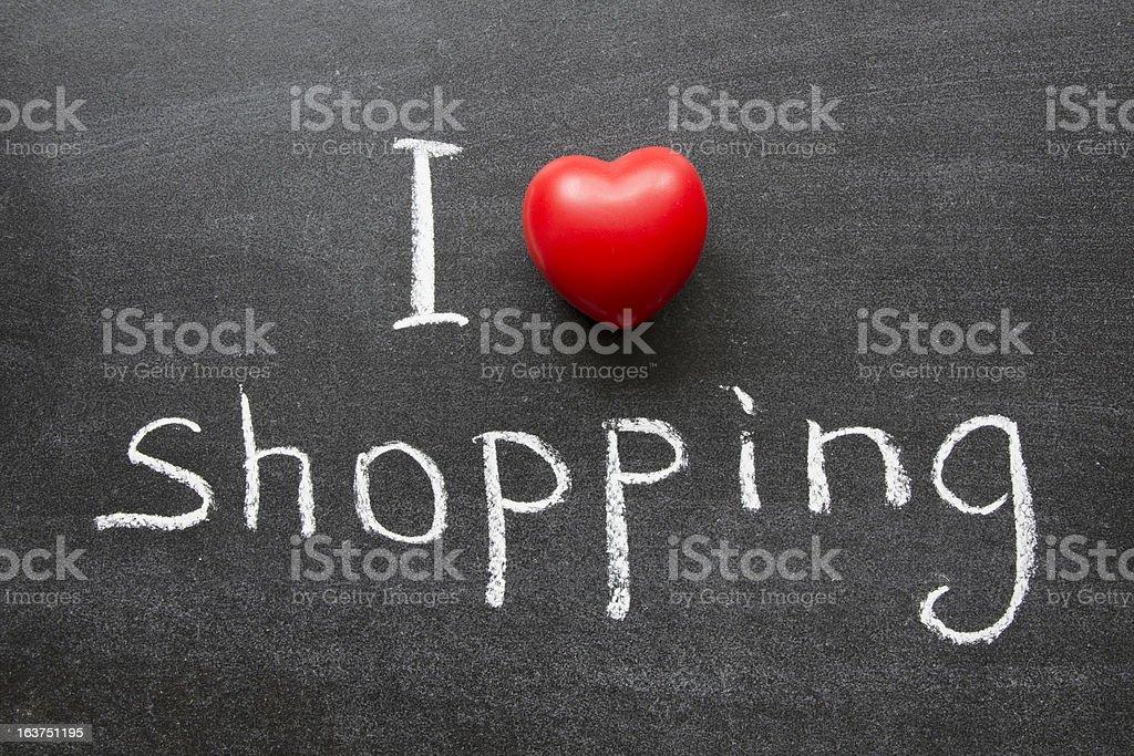love shopping royalty-free stock photo