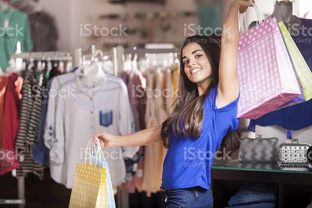 I love shopping! royalty-free stock photo