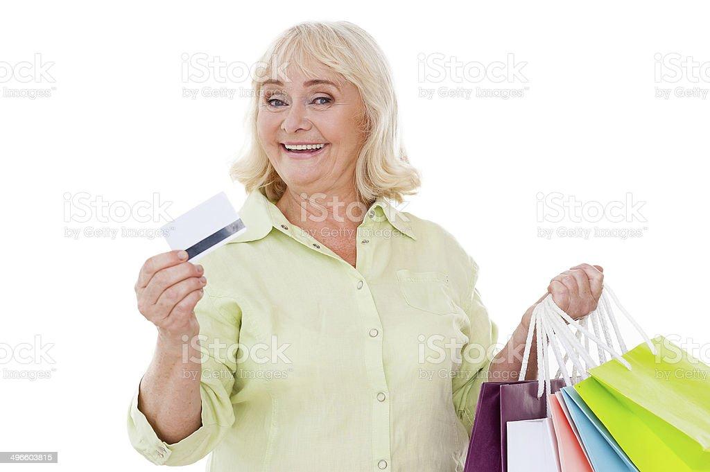 I love shopping! stock photo