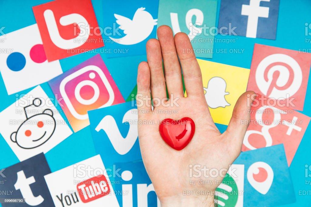Love social media stock photo