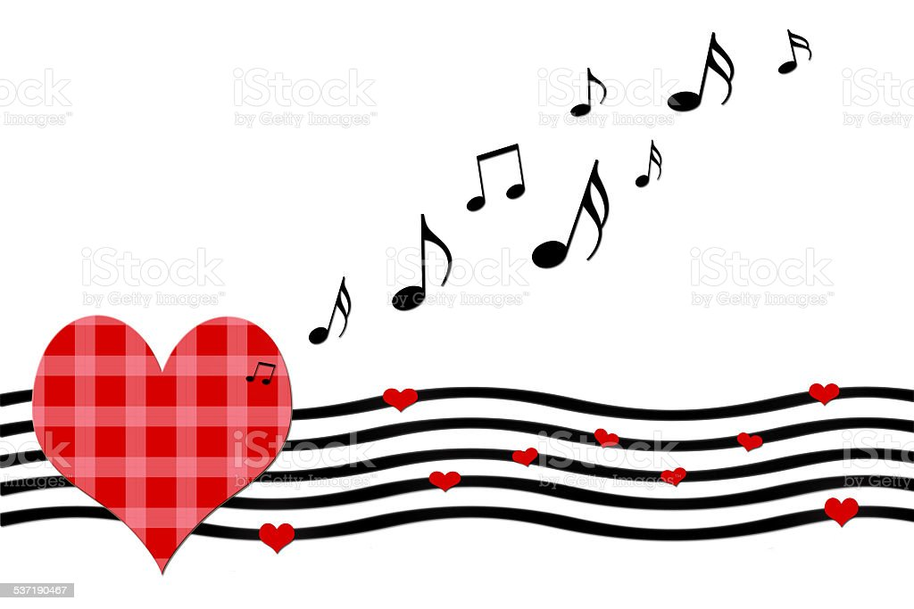 love song greeting card stock photo