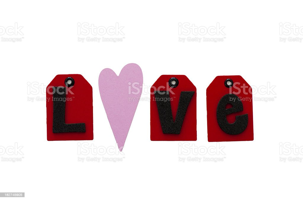 love spelled out stock photo