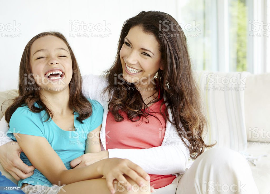 I love spending time with mom stock photo