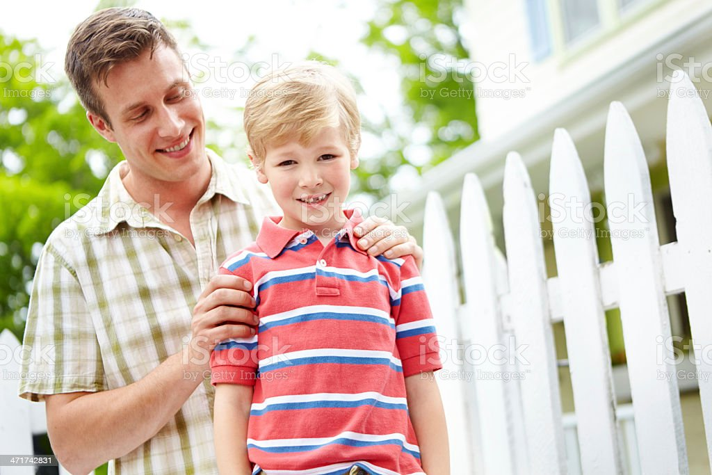 I love spending time with my dad! royalty-free stock photo