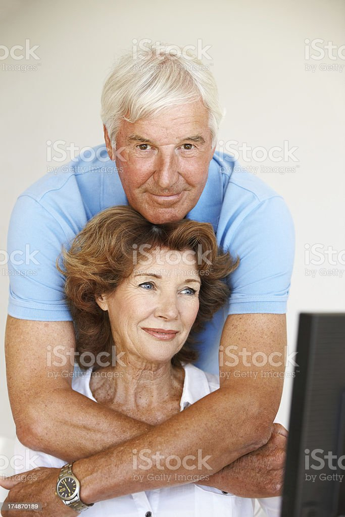 I love spending time with my wife royalty-free stock photo
