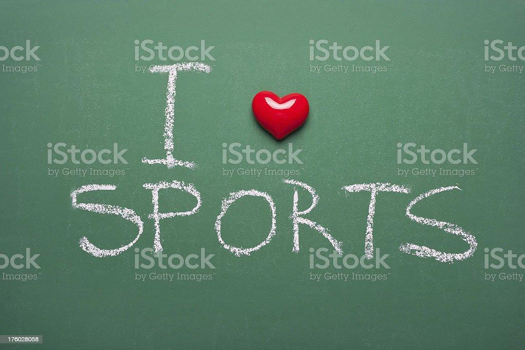 I love sports royalty-free stock photo