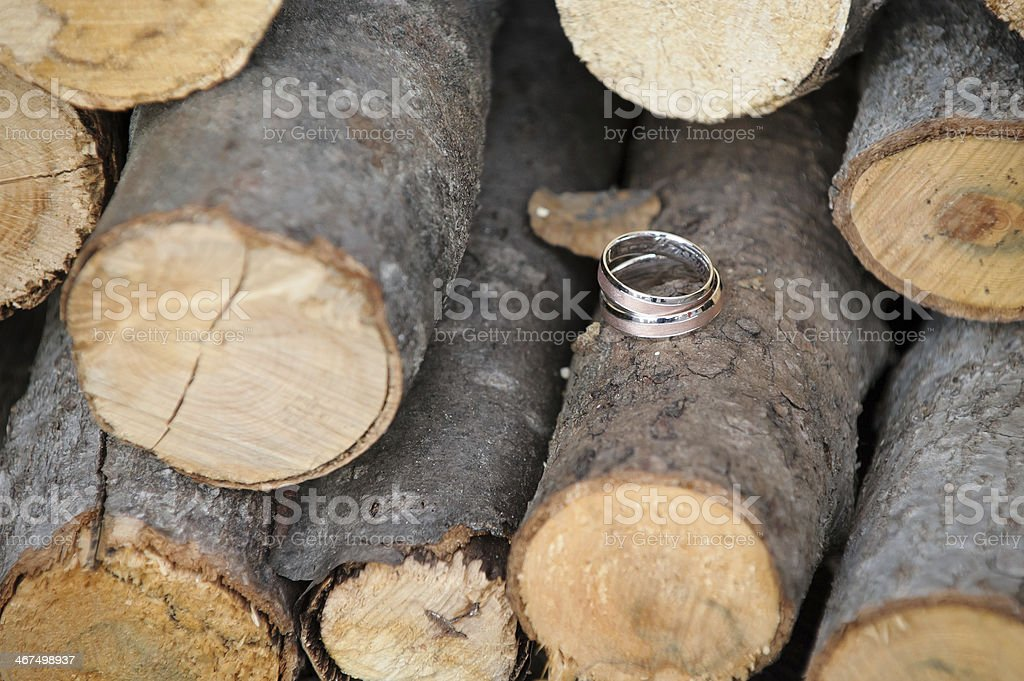 Love story carved in wood stock photo