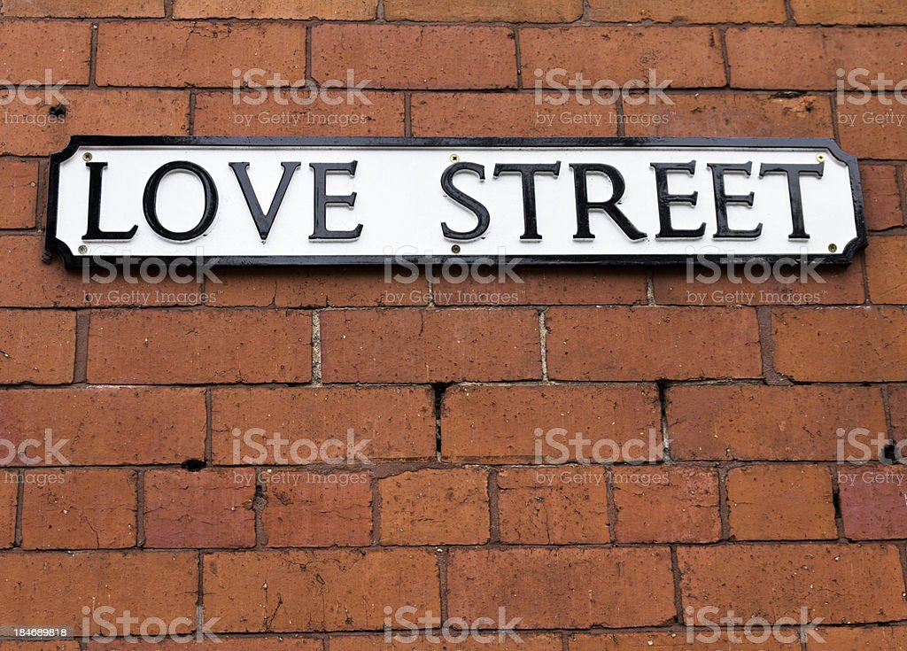 Love Street Sign stock photo
