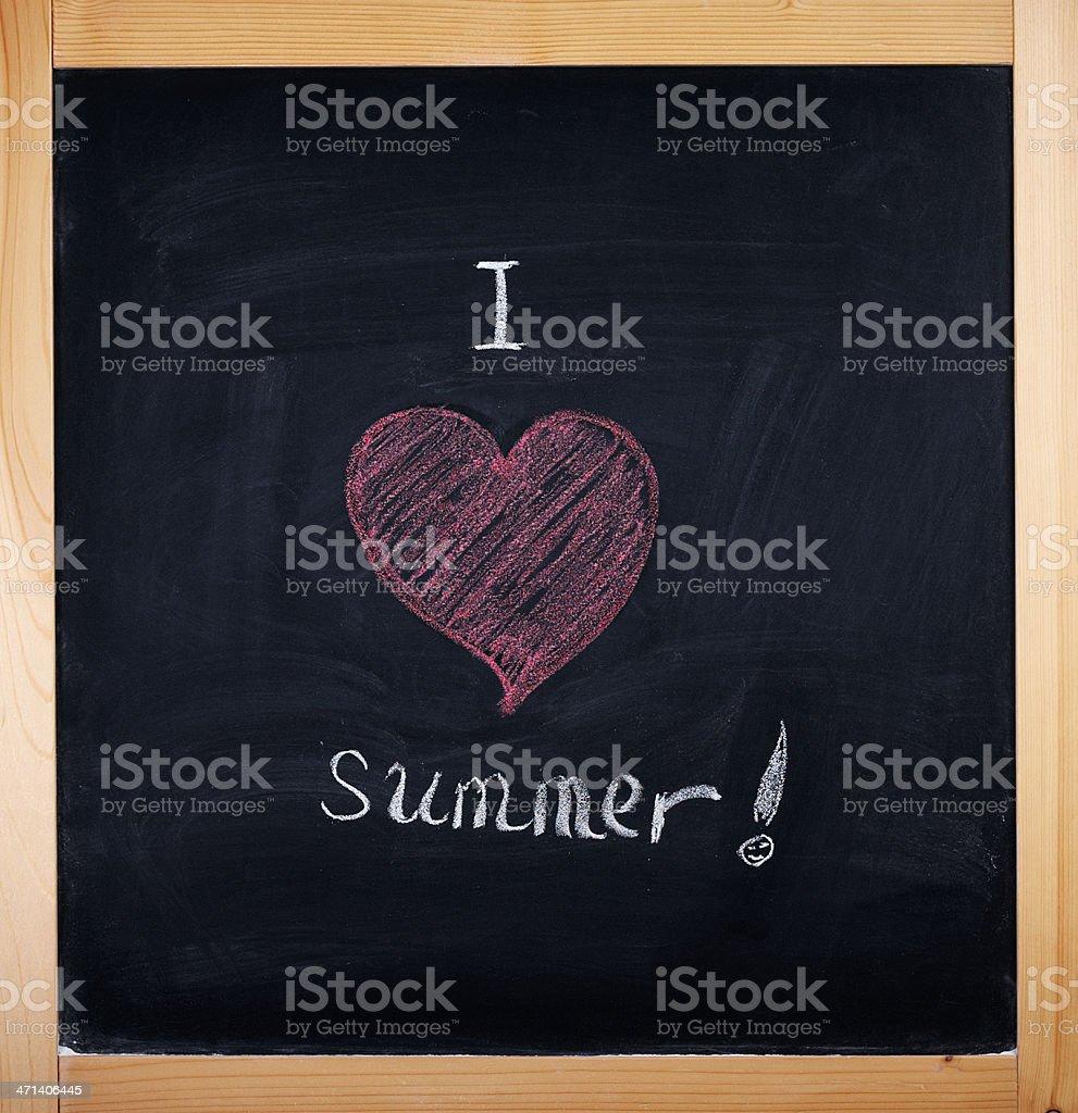 I love summer royalty-free stock photo