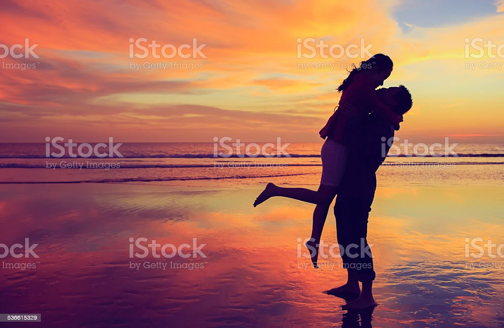 Love Sunset stock photo