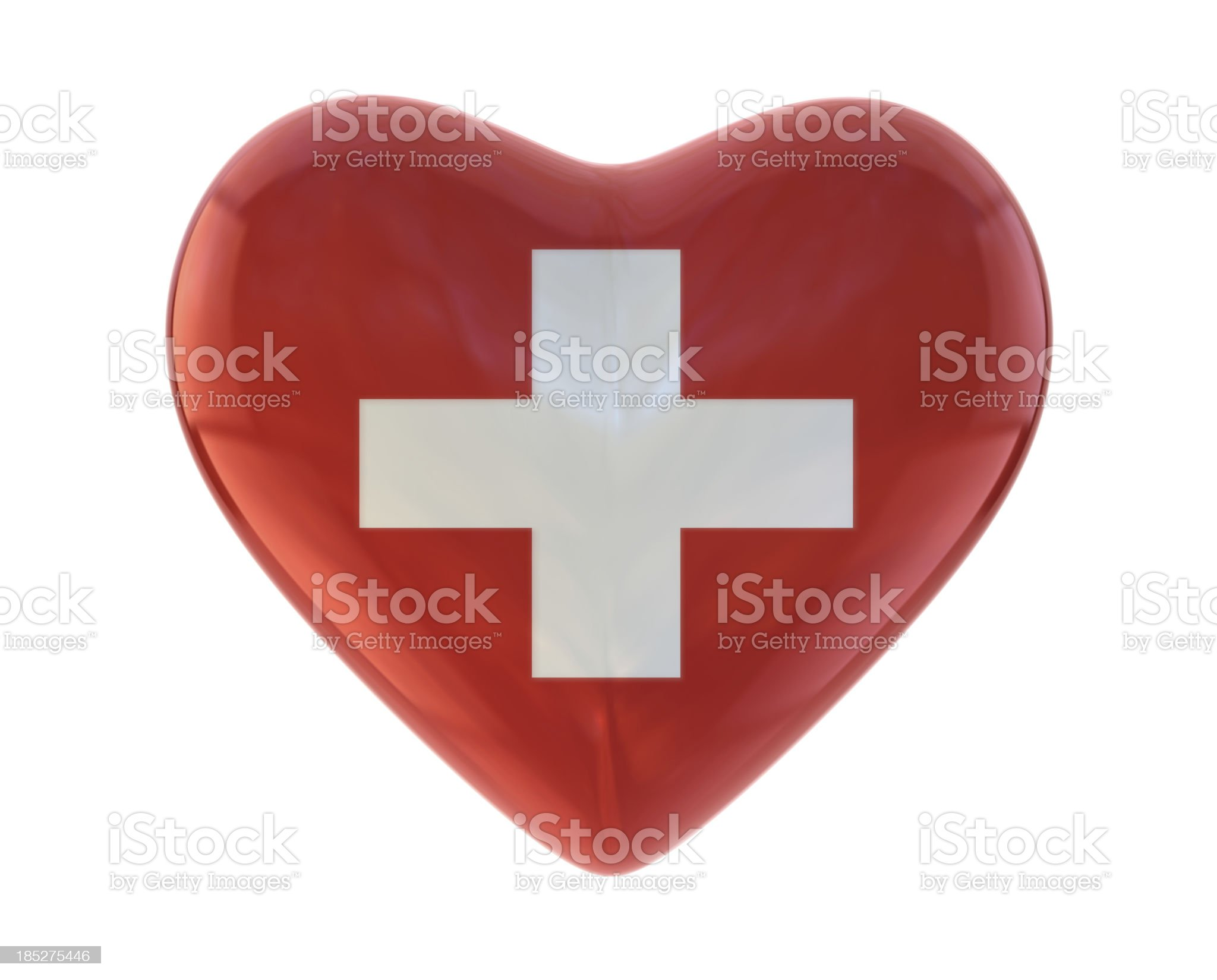 I Love Switzerland royalty-free stock photo