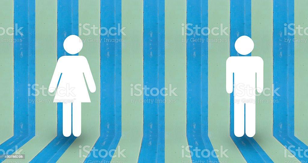 love symbols on blue pastel wall wood royalty-free stock photo