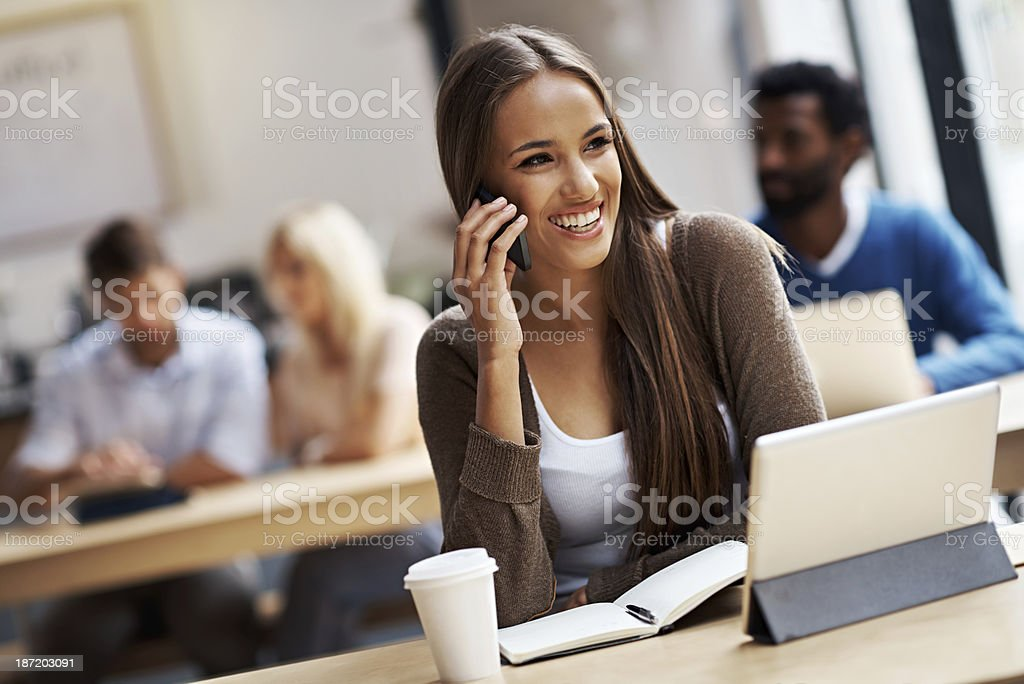 I love talking to you royalty-free stock photo
