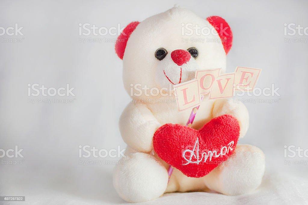 Love teddy bear stock photo