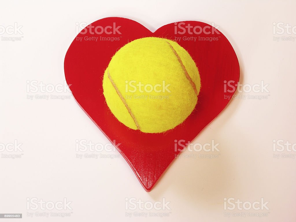 I Love Tennis stock photo