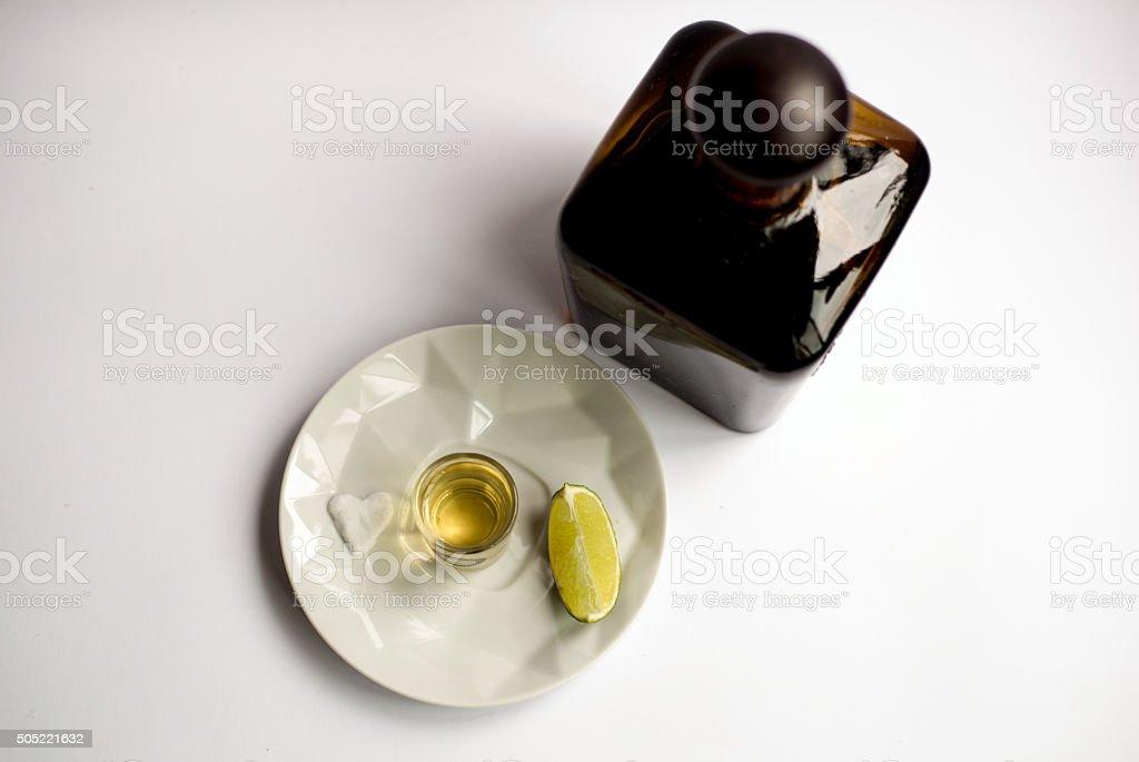 I love tequila - shot stock photo