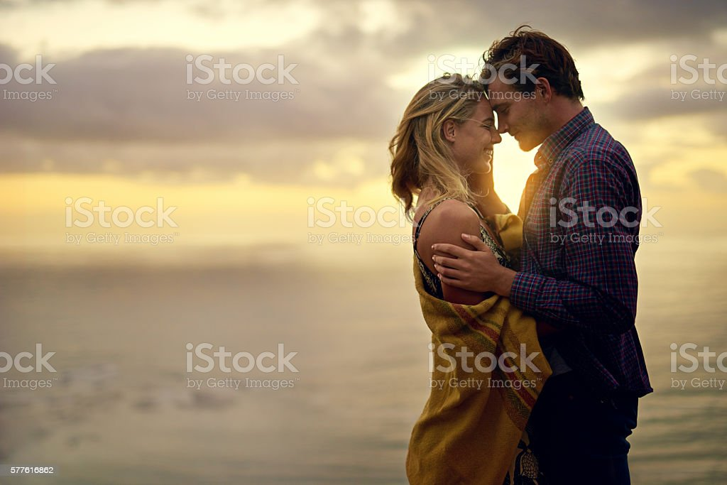 Love that speaks to the soul stock photo