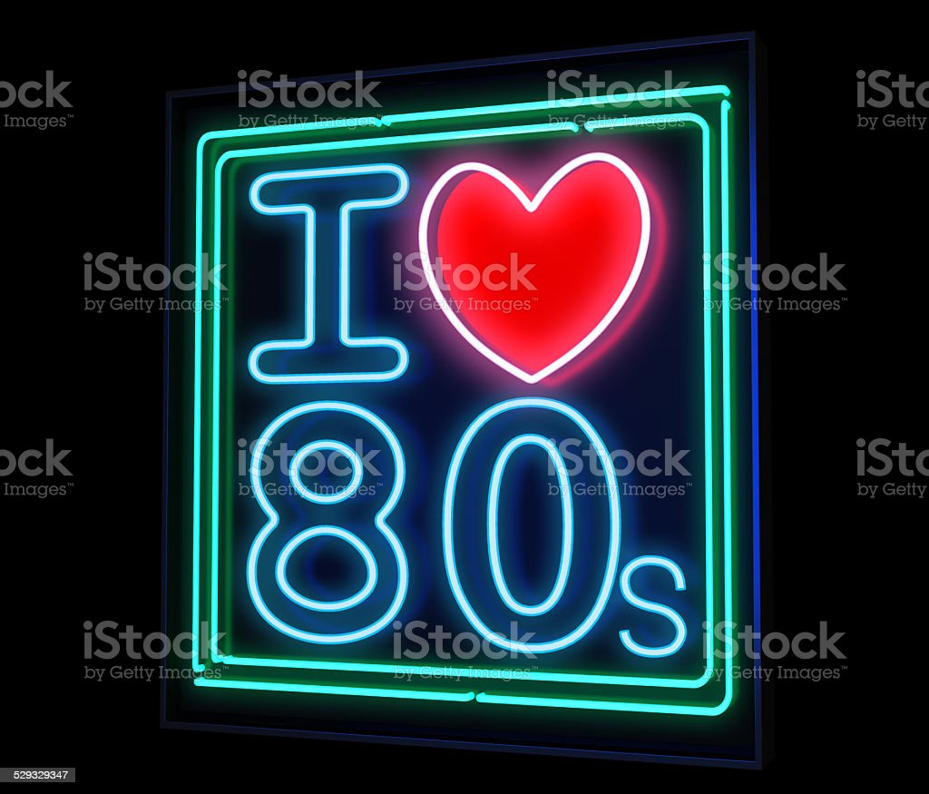 I love the 80s neon stock photo