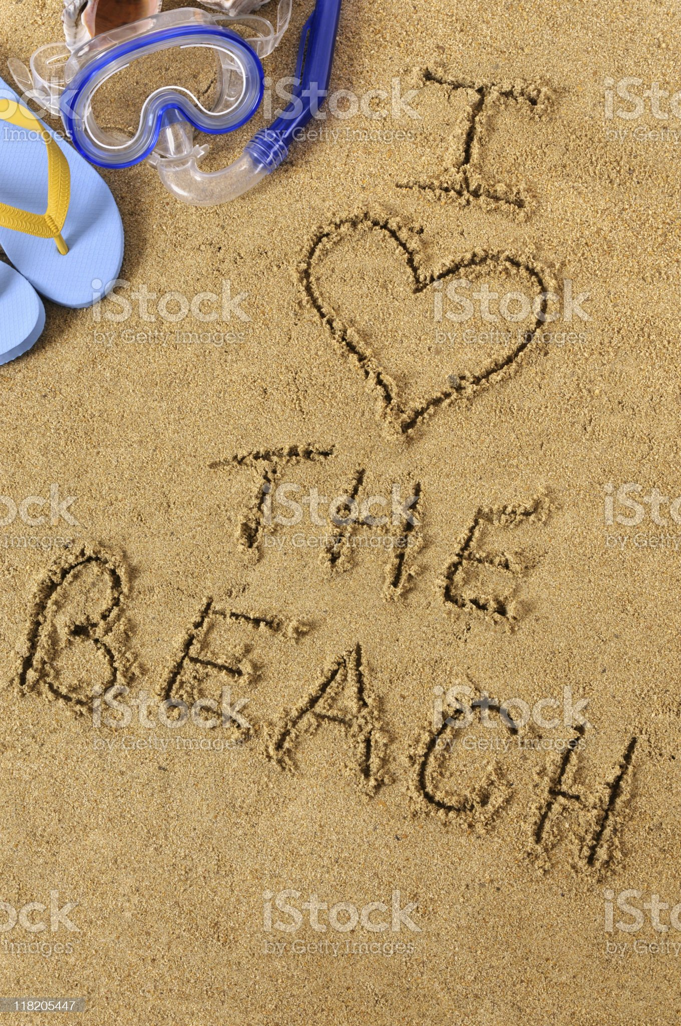 I love the beach royalty-free stock photo