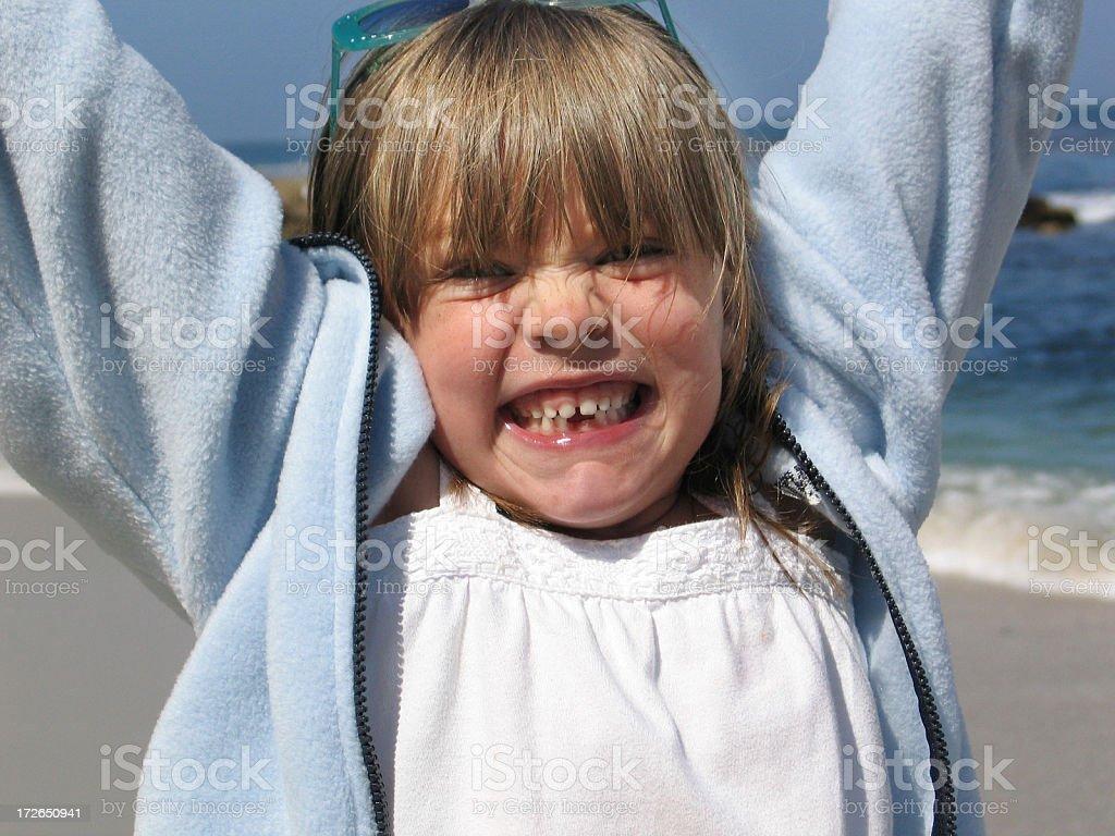I love the beach! royalty-free stock photo