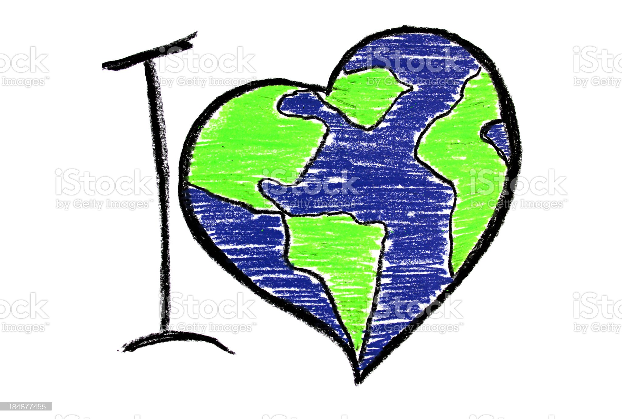 I love the earth illustration for earth day royalty-free stock photo