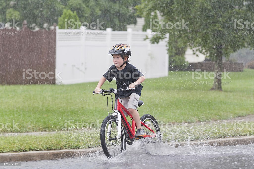 I Love the Rain stock photo