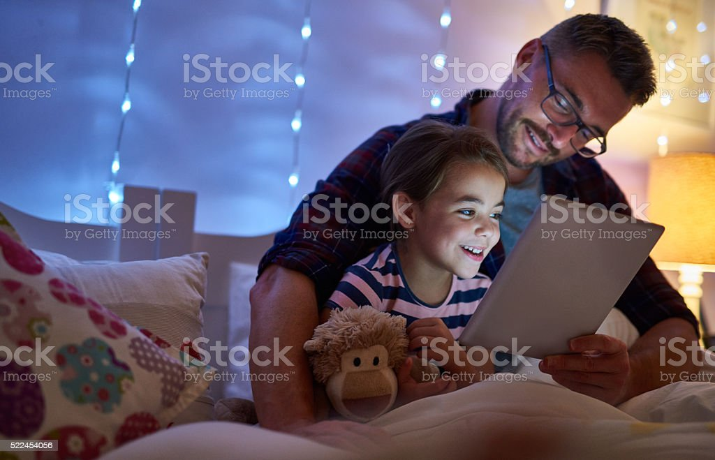 I love the way she tell stories stock photo
