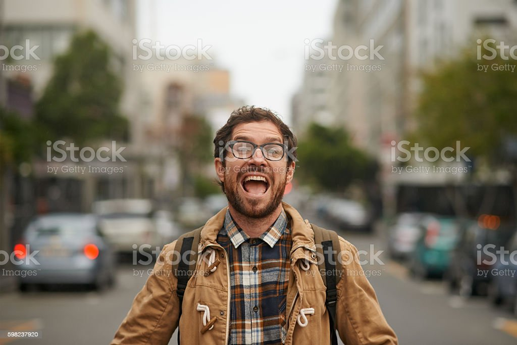 I love this city! stock photo