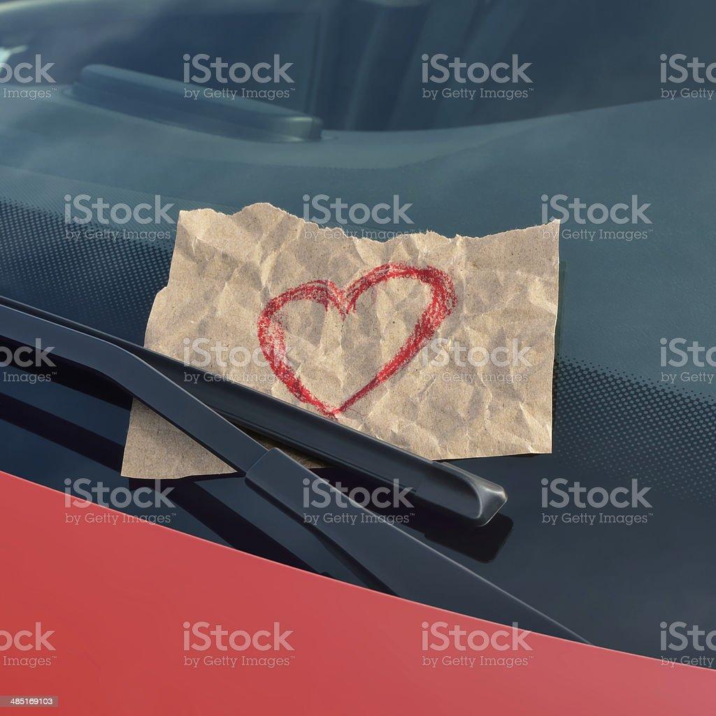love ticket stock photo
