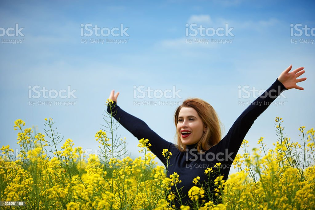 love to be in the middle of nature stock photo