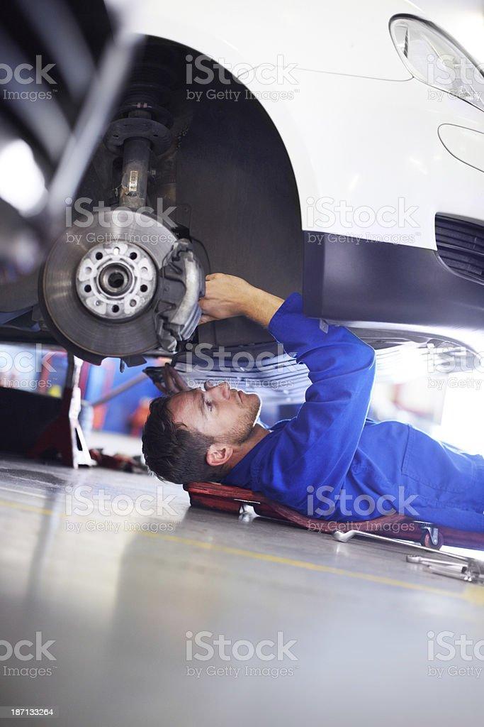 I love to fix cars stock photo