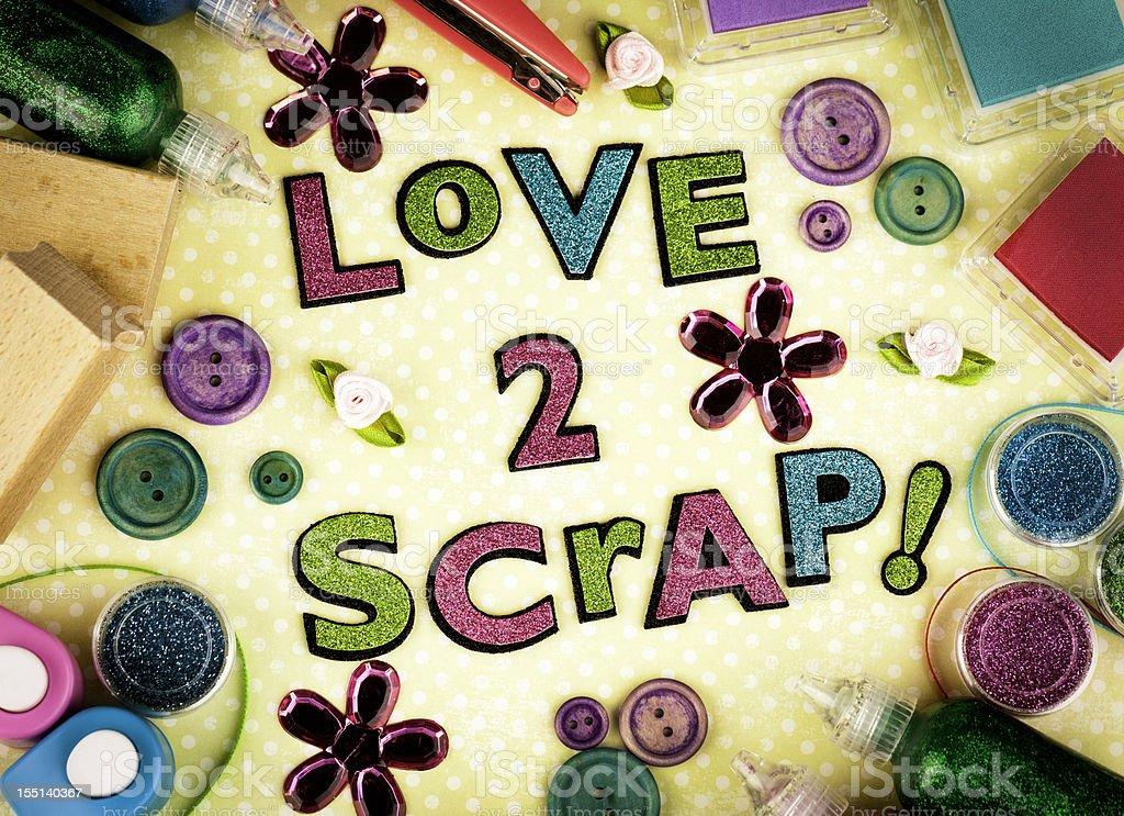 Love to Scrap! stock photo