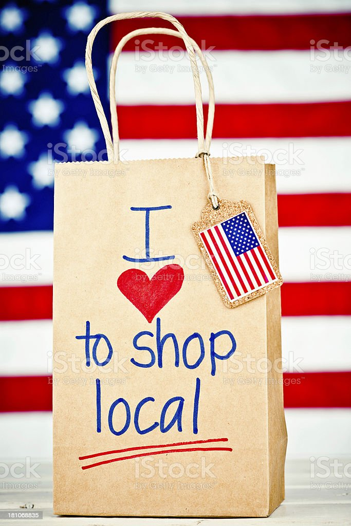 I Love to Shop Local! royalty-free stock photo