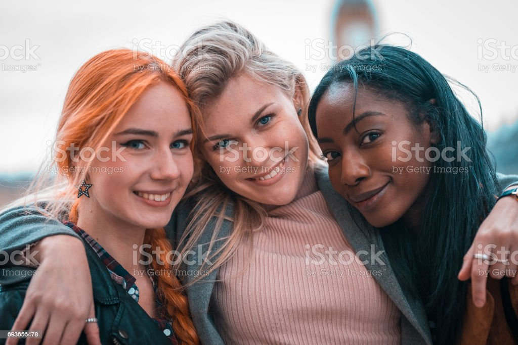 Love to travel with my besties! stock photo