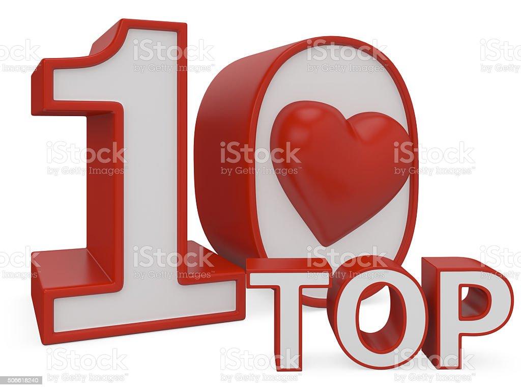 love top ten stock photo