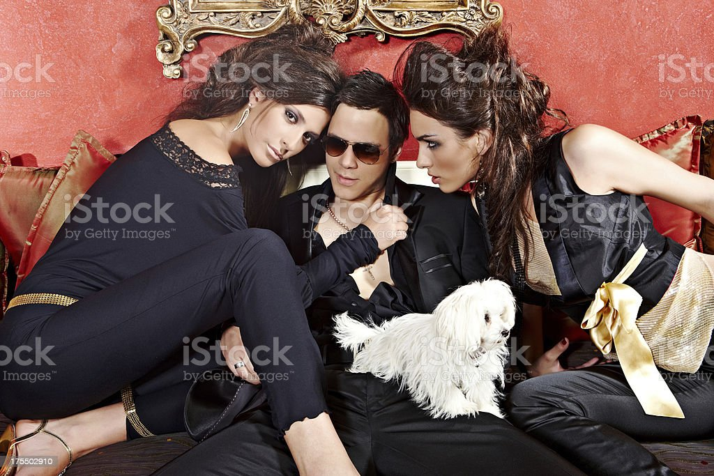 Love triangle. royalty-free stock photo
