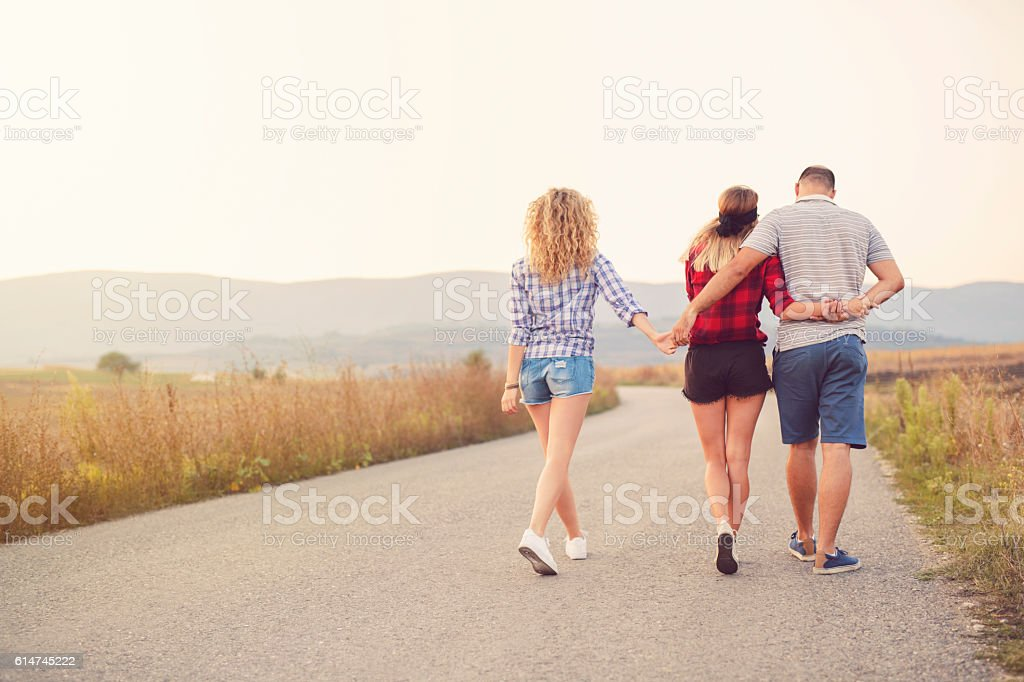 Love Triangle stock photo