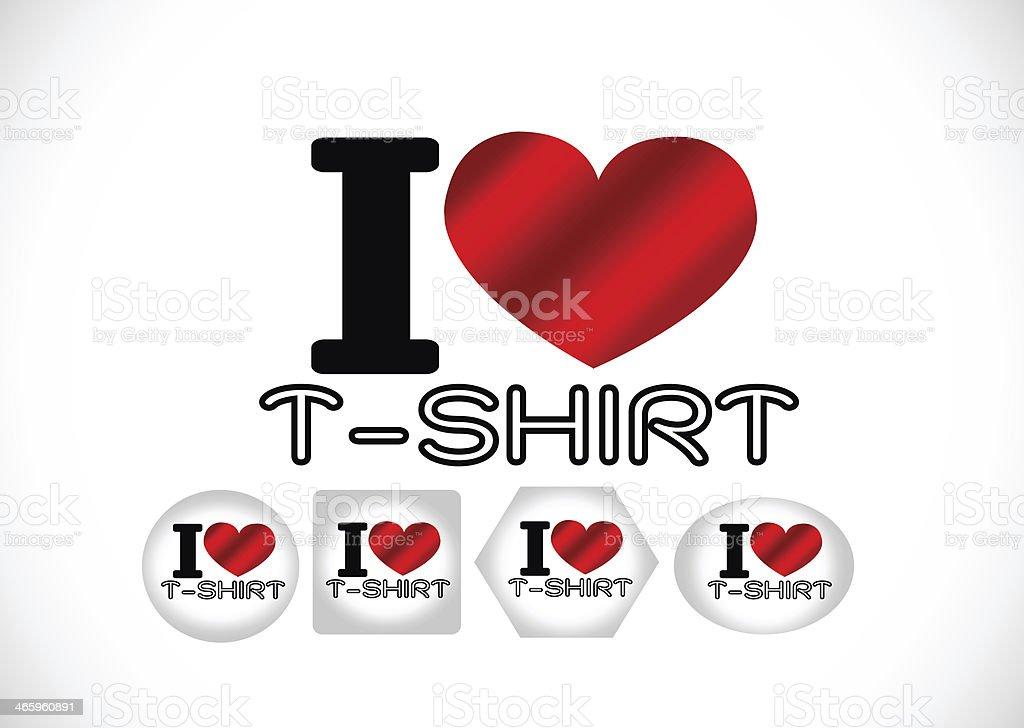 I Love T-shirt stock photo