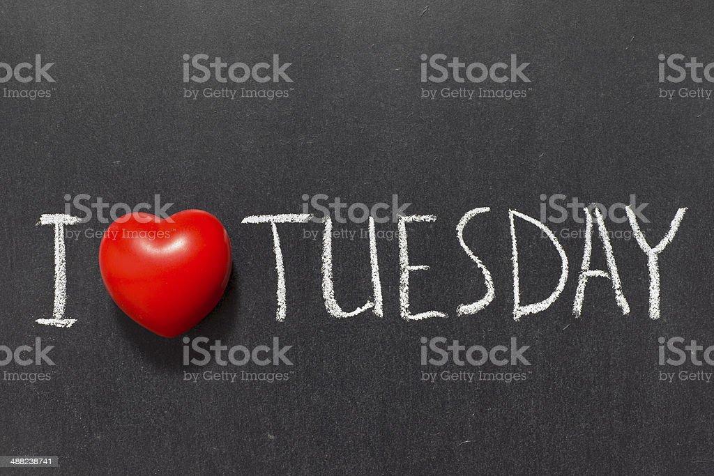 love Tuesday stock photo
