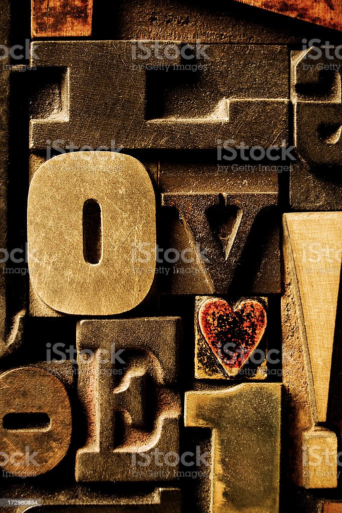 Love Type royalty-free stock photo
