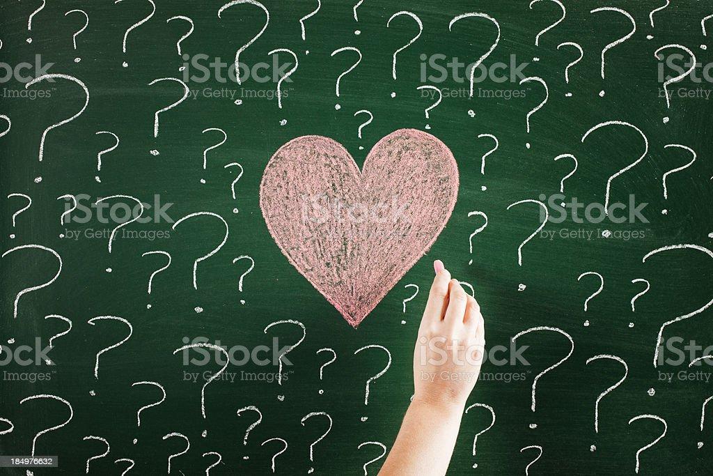 Love uncertainity stock photo