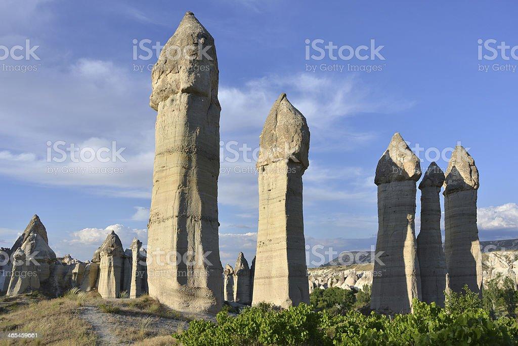 Love Valley in Cappadocia stock photo
