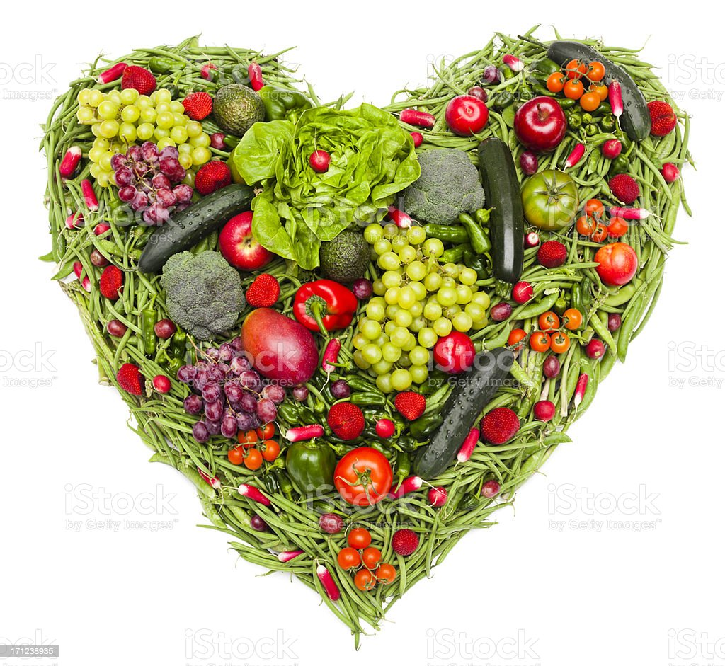 I love vegetables and fruit royalty-free stock photo