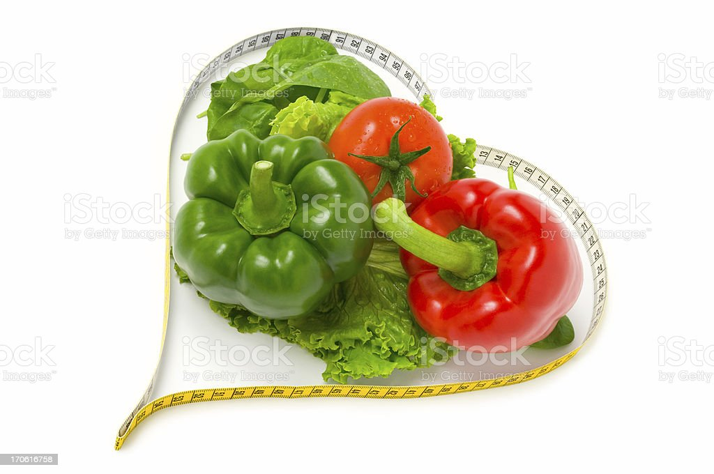 I love vegetables (Dieting concept) royalty-free stock photo