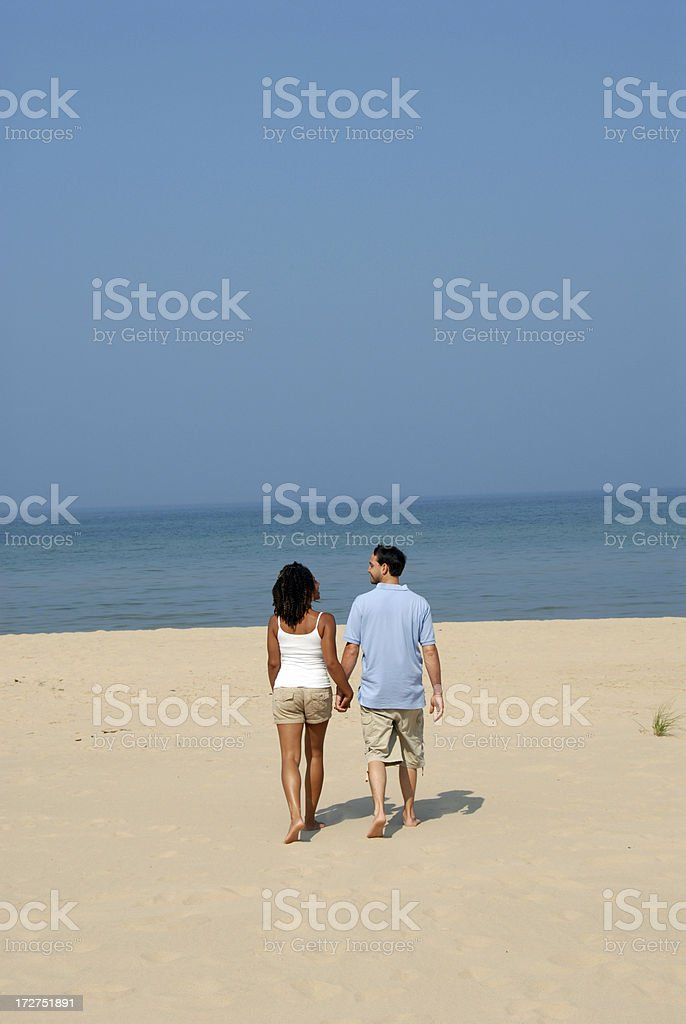 love walking on the beach royalty-free stock photo