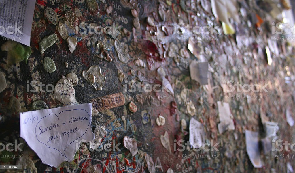 Love Wall royalty-free stock photo