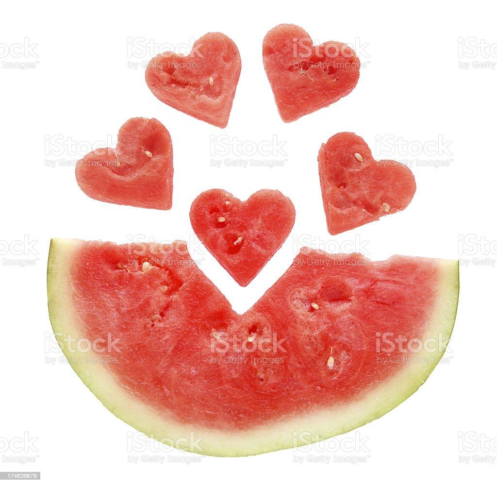 I Love Watermelon royalty-free stock photo