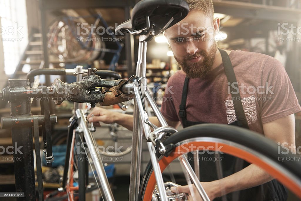 I love what I do! stock photo