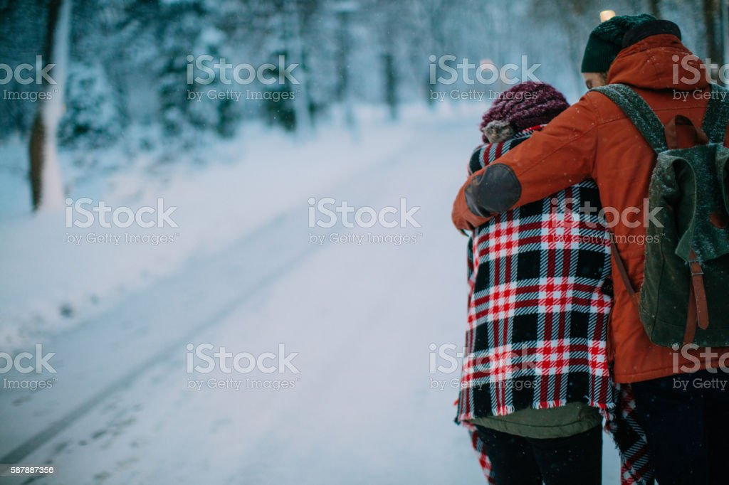 Love will keep us warm stock photo